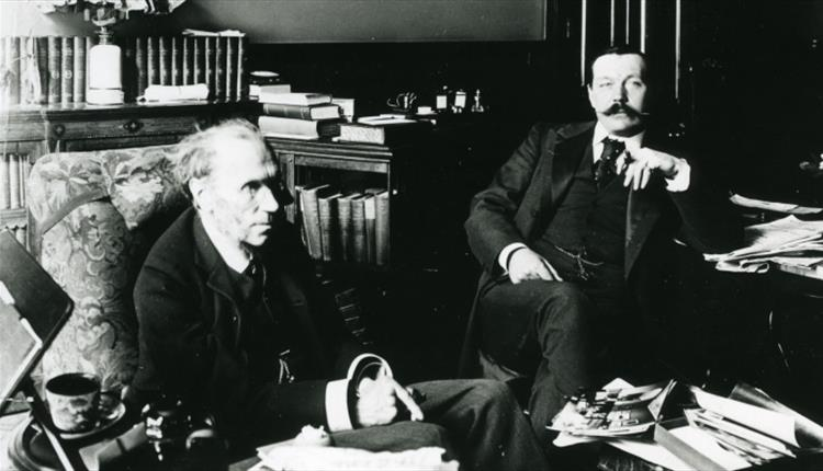 File:1897-arthur-conan-doyle-and-james-payn-at-his-home-maida-vale-working-on-halves.jpg