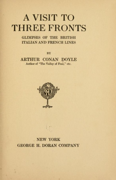 File:George-h-doran-1916-a-visit-to-three-fronts-titlepage.jpg